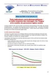 indicateurs socio demographiques 03 04 17