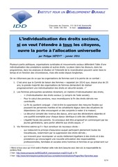 individualisation des allocations sociales janv 2016