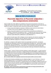 Fichier PDF pauvrete objective et pauvrete subjective 01 03 17