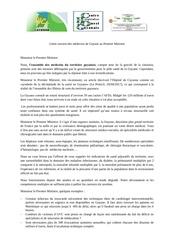 Fichier PDF lettre premier ministre