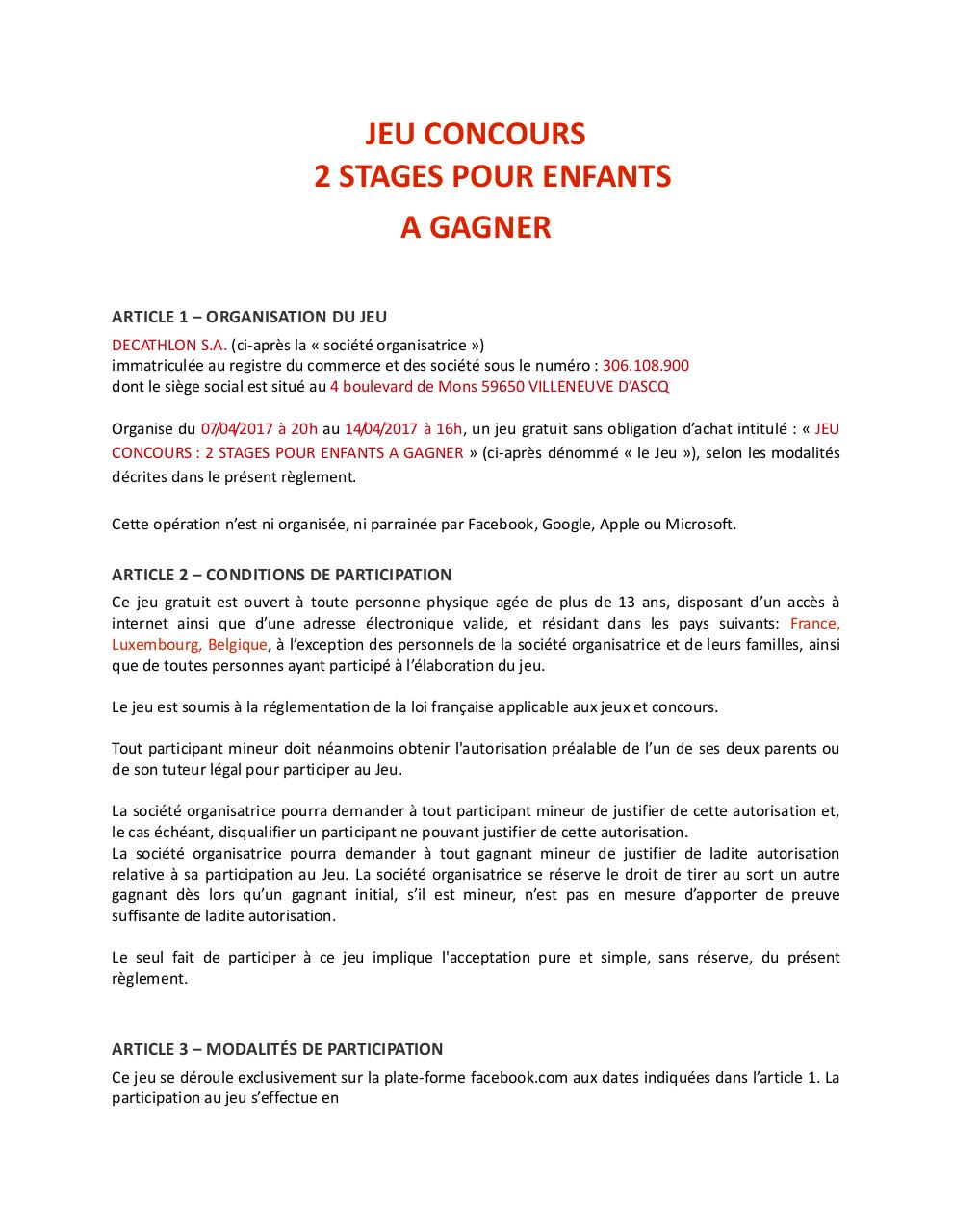 REGLEMENT JEU CONCOURS 2 STAGES A GAGNER.pdf - page 1/3