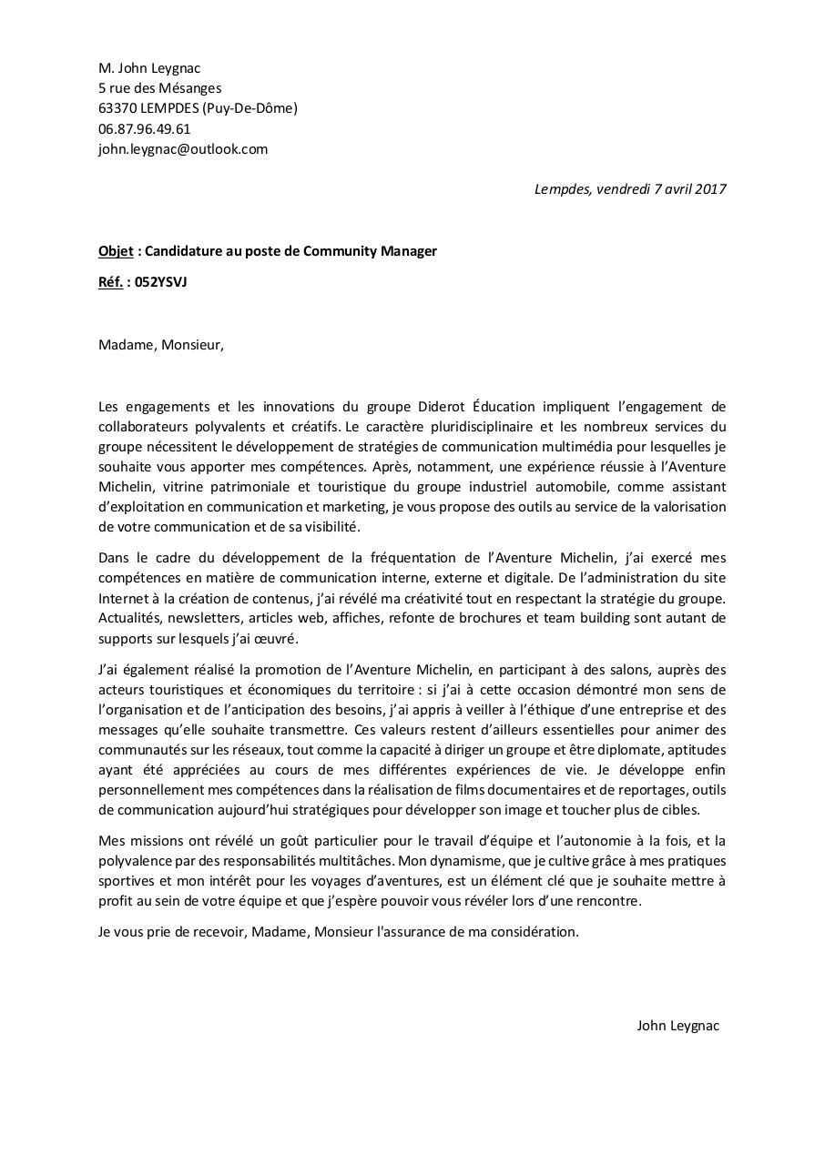 Aperçu du document John Leygnac - Lettre de motivation.pdf - page 1/1