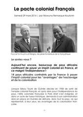 le pacte colonial francais