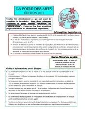 formulaire inscription foire des arts 2017 1