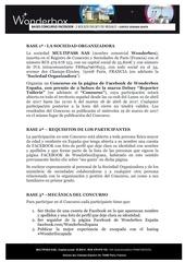 bases legales jeu concours wonderescapada delsey