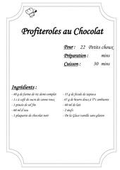 Fichier PDF profiteroles au chocolat