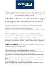 Fichier PDF qualite produit