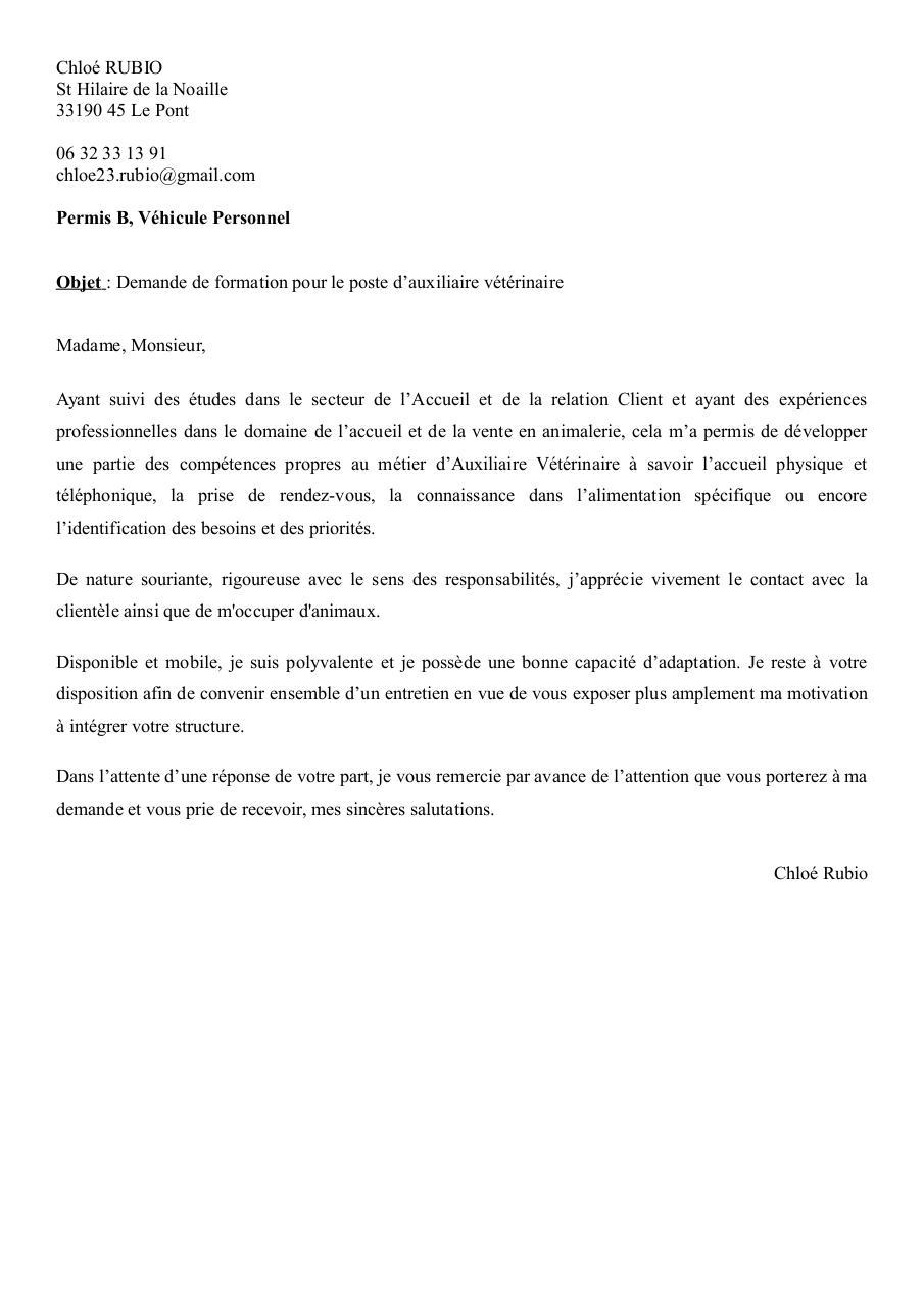 Lm Auxiliere Veterinaire Par Garantie Jeunes Fichier Pdf