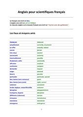 anglais pour scientifiques francais