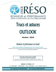 cahier outlook 2010