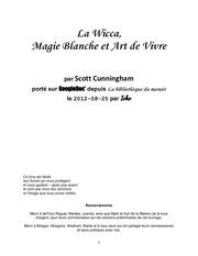 la wicca magie blanche et art de vivre