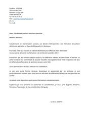 lettre de motivation asv