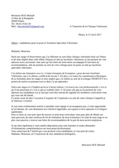 lettre de motivation site emploi asv
