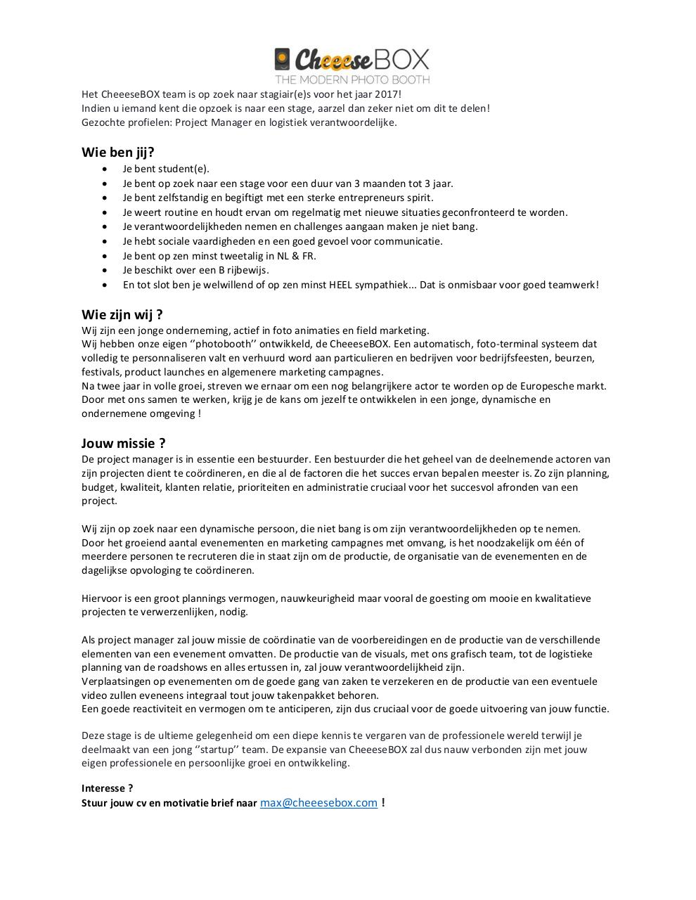 Aperçu du document Stage Project Manager CheeeseBOX.pdf - page 2/2