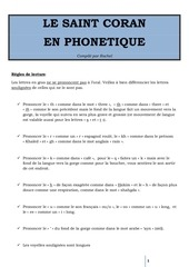 Fichier PDF le saint coran en phonetique