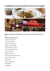 receta de cordero al curry