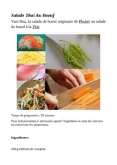 salade thae au boeuf