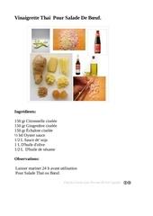 Fichier PDF vinaigrette thai pour salade de boeuf