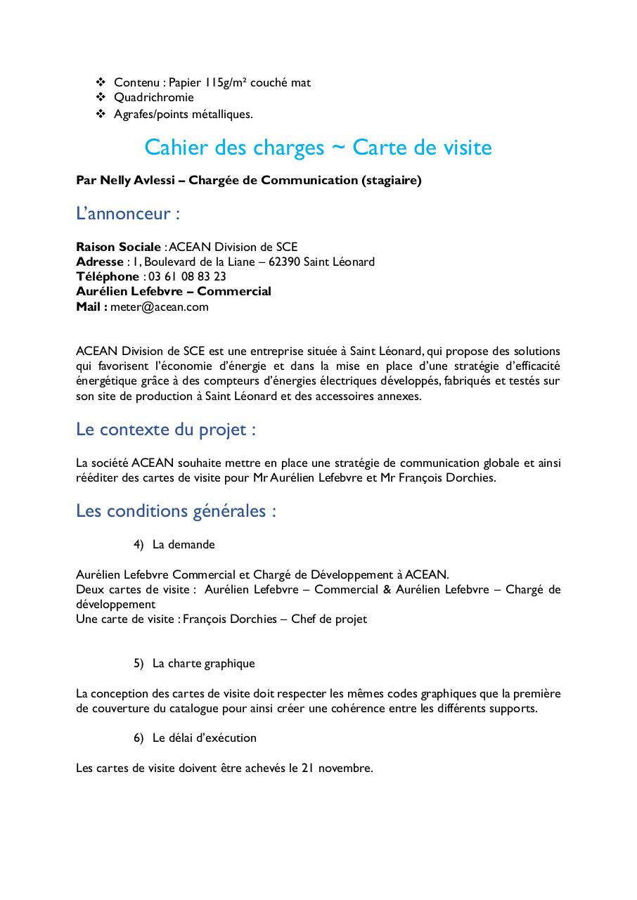 Cahier Des Charges Nellypdf