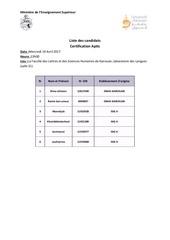 liste de presence 1
