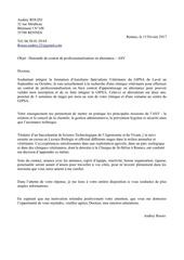 lettre de motivation clinique veterinaire 2017