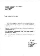 lettre de recommandation beret maryline 30 08 2016