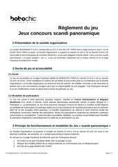 reglement jeu concours bobochic panoramique