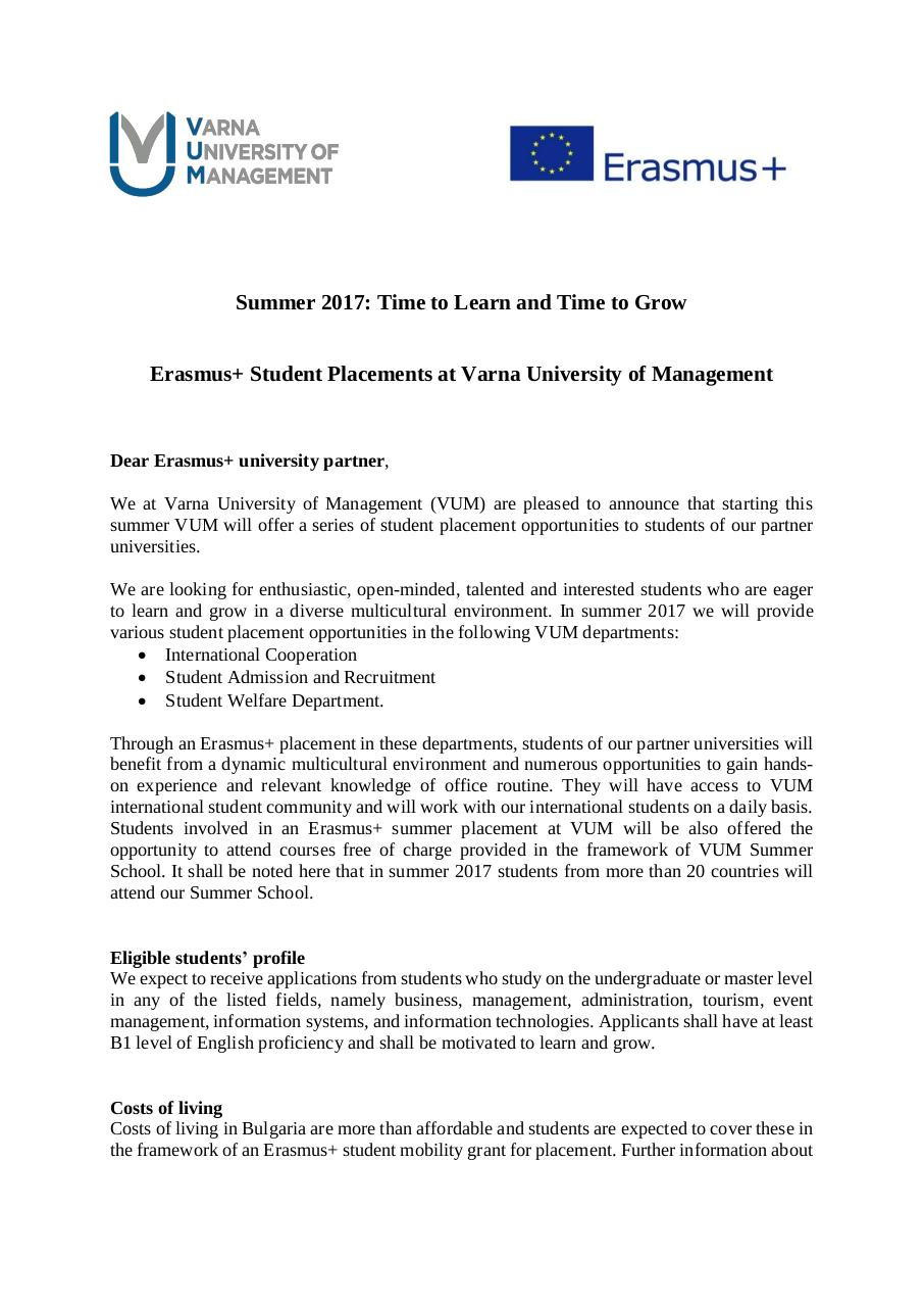Student placement opportunities at VUM_2017.pdf - page 1/2