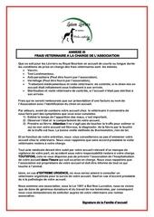 annexe iii au contrat fa ld frais veterinaire 1
