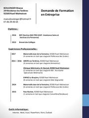 Fichier PDF cv maeva boulenger