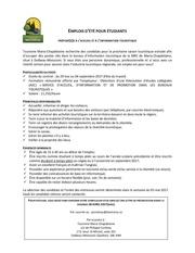 Fichier PDF emplois etudiants 2017 prepose accueil et information