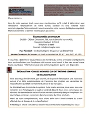 2e tract nouveau syndicat