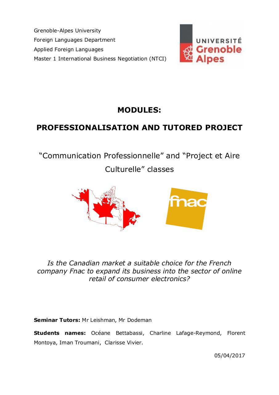 Final Report Fnac in Canada.pdf - page 1/44