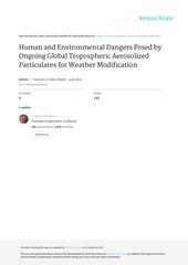 geo ingenierie danger pour les humain
