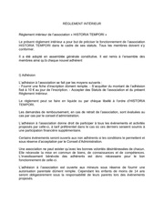 Fichier PDF reglement interieur historia tempori