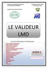le valideur lmd l2 si edition 2017