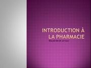 introduction a la pharmacie