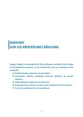rapport commission mazeaud procedures b illons