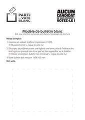 Fichier PDF bulletin blanc modele presidentielles 2017