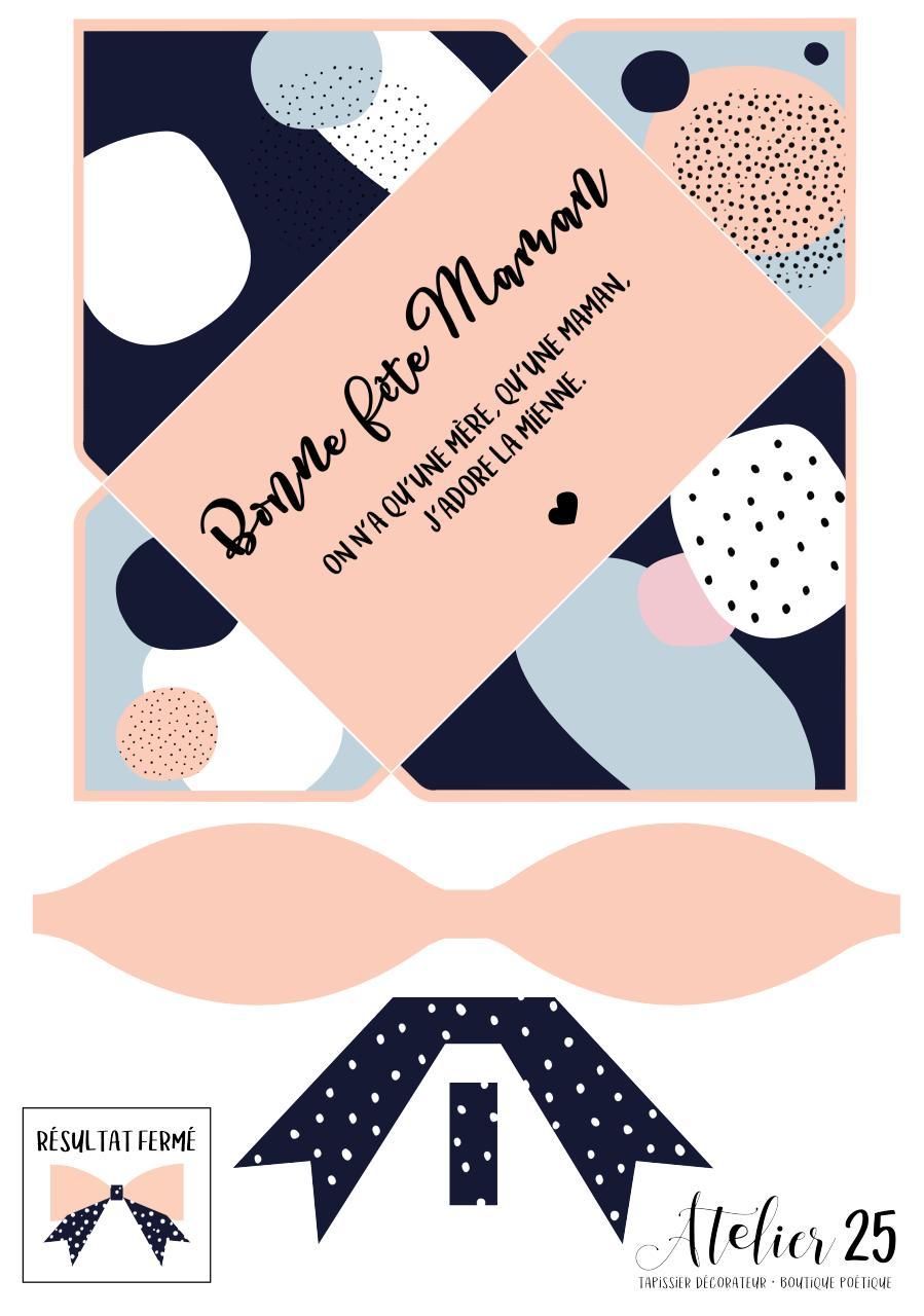 Enveloppe noeud zu2 carte fete des m res imprimer pdf - Carte fete a imprimer ...