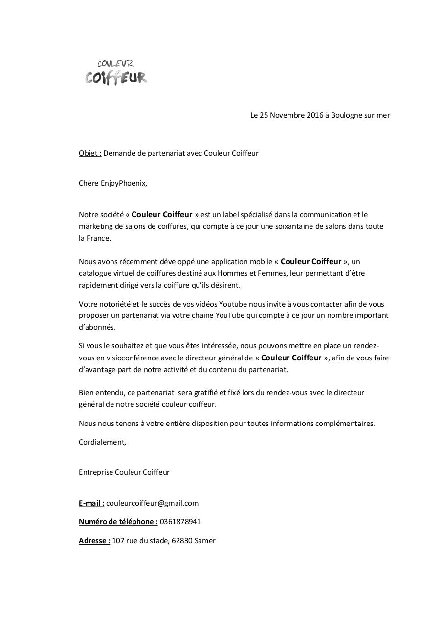 Aperçu du document Courrier Youtubeuses.pdf - page 1/1