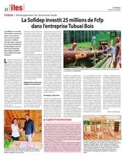 la sofidep investit 25 millions de fcfp dans tubuai bois