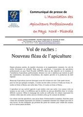 Fichier PDF communique vol ruche