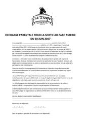 Fichier PDF decharge parentale