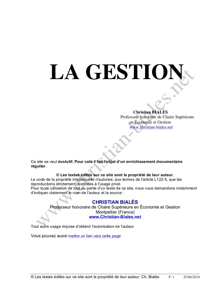 Aperçu du document Gestion.PDF - page 1/20
