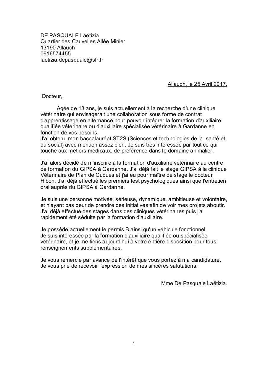 Aperçu du document lettre de motivation ASV.odt PDF.pdf - page 1/1