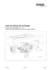 Fichier PDF liste de pieces de rechange ekdr 3 ekdr 5 ekdr 10