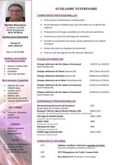 myriam moussaoui cv assistante veterinaire au 9 avril pdf