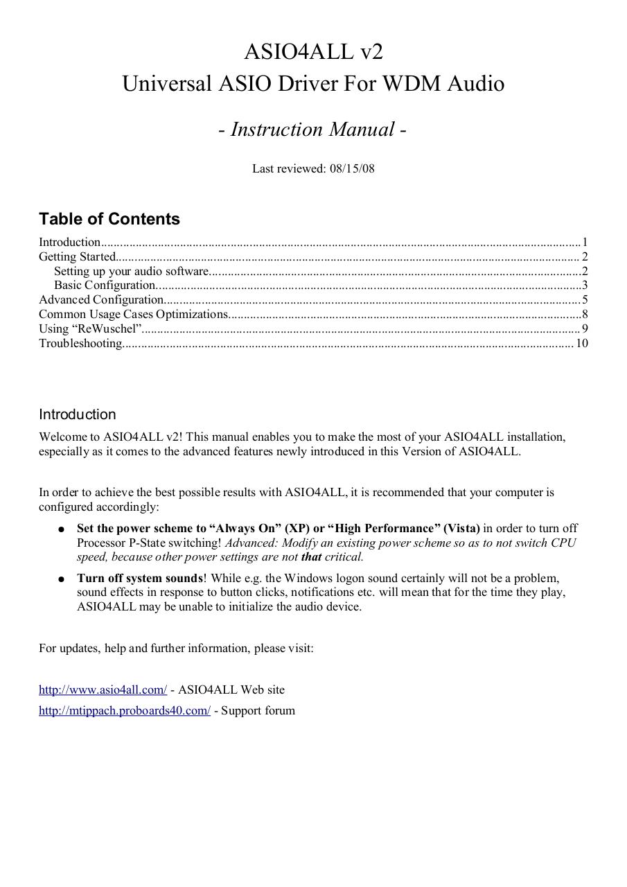 ASIO4ALL v2 Instruction Manual.pdf - page 1/11