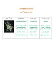 Fichier PDF menus de la cantine 1er mai